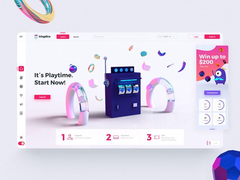 Kingdice 👑 sporbook casino online interactiondesign interface design jesuslab ux design interaction design minimal ui mobile design website uxdesign uidesign