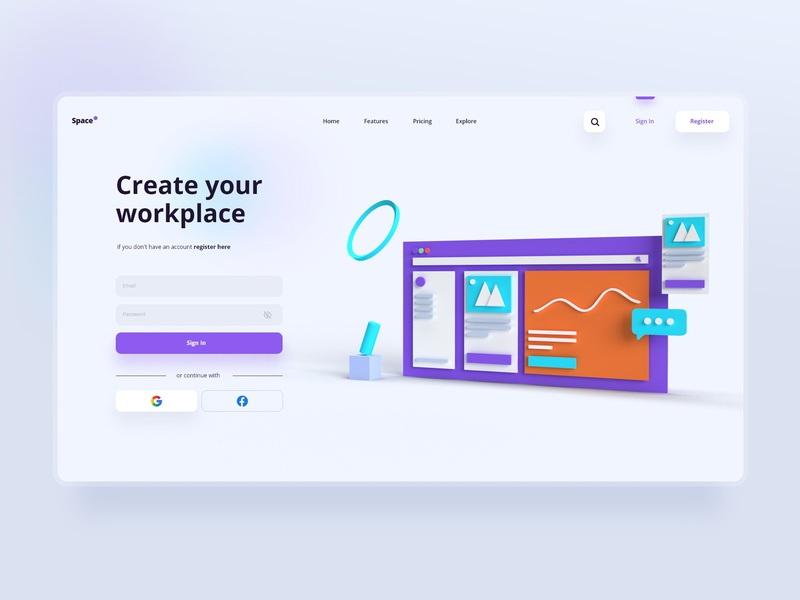 Space 📌 task manager ui ux design interface design interaction design minimal interaction website uidesign uxdesign workspace