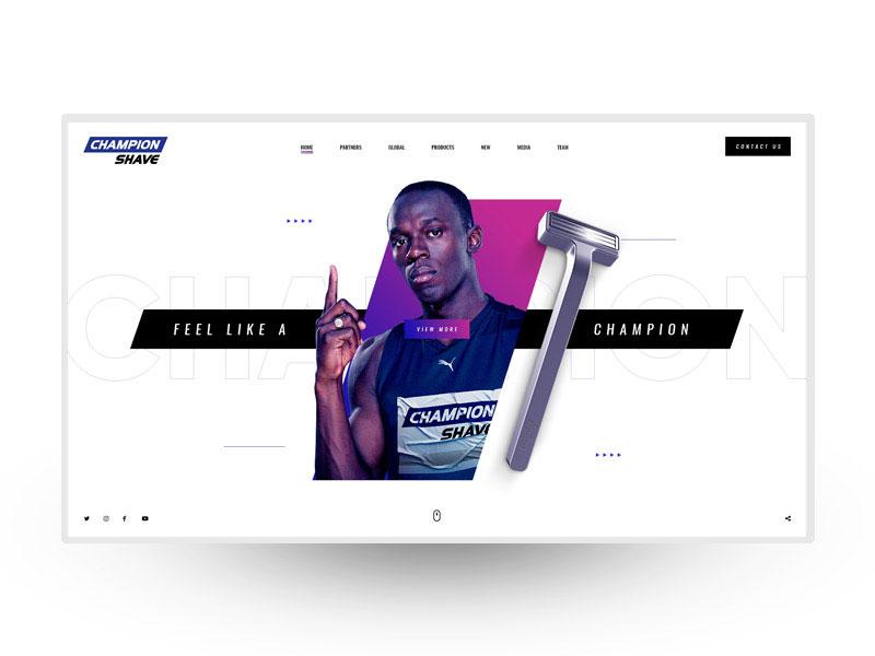 Landing page Champion Shave mobiledesign uxdesign uidesign web interaction landingpage webdesign