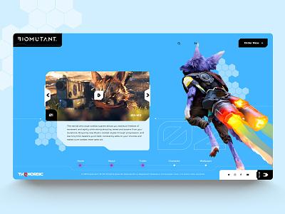 Biomutant 💥 website webdesign uidesign uxdesign webconcept interaction game biomutant