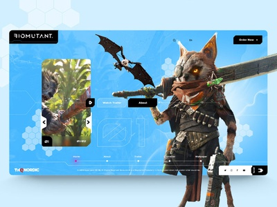 Biomutant web concept design 💥