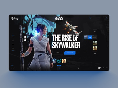 Starwars the Rise of Skywalker the rise of walker interface design webdesign creative design minimal mobile design ui game website interface interactiondesign uxdesign uidesign skywalker movies starwars