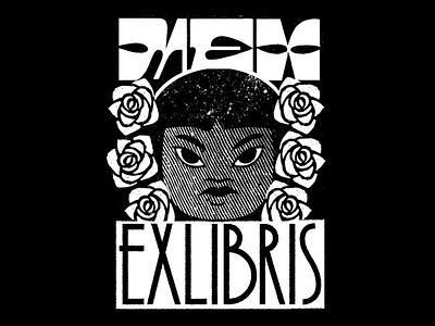 Ex-LIBRIS Mexico engraved letters type design character méxico design lettering