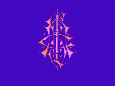 Monogram KALIUCHIS type monogramas monograms lettering