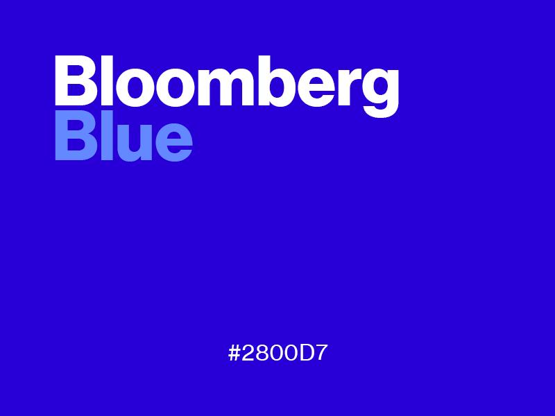 Fav color bloomberg blue
