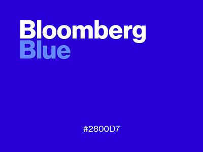 Bloomberg Blue #2800D7 color logo news colour blue favorite website playoff 2800d7 bloomberg business design