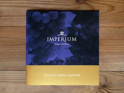 Imperium brochure crown royal king pantone gold logo wine cover editorial identity branding brochure