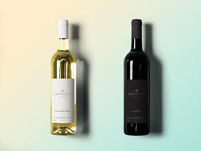 Imperium Wine Bottles packaging label design royal gold elegant crown branding wine red