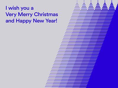 I wish you a Merry Christmas lines minimal transition hny new year happy xmas flat card very tree minimalist creative holiday whishes merry christmas merry christmas illustration design