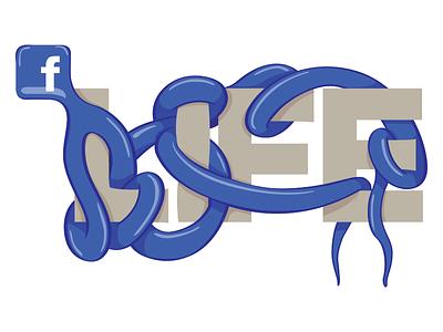 Tangled Up cartoon illustration drawing life socialmedia social roots root apps tangled tangle facebook