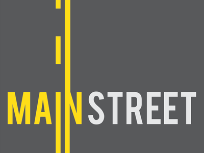 Main Street Poster avenue st asphalt road lines yellow double poster street main
