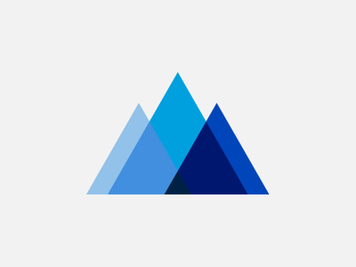 Summit cool cold snow blue overlap triangle triangles peaks peak mountains mountain summit