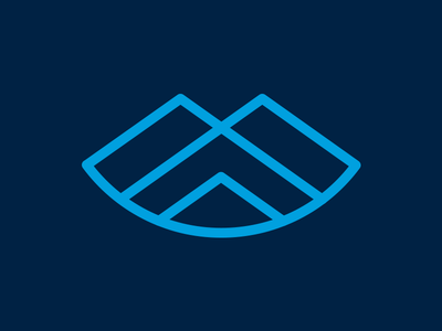 Rounded Mountains cool cold snow blue overlap triangle triangles peaks peak mountains mountain summit