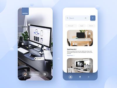 Desk Setup App search clean ios exploration idea setup desk luxury ui ux app design apps