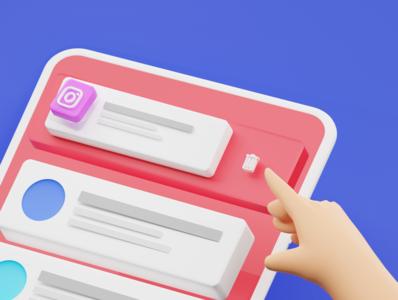 Delete Instagram? ios luxury clean logo twitter facebook app eevee octane blender c4d cycles 3drender uiux dribbble instagram