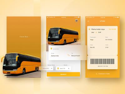 Travel Bus Exploration eticket ui ux ui travel card bus apps