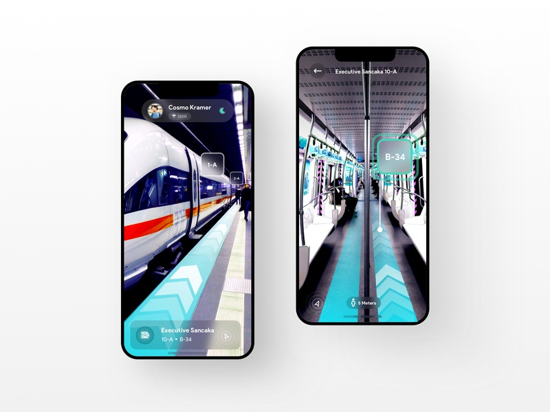 Trains AR Concept augmented reality booking apps transportation trains