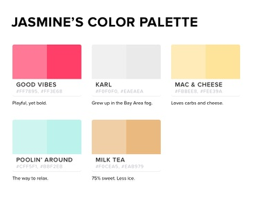 Jasmine's Color Palette color palette
