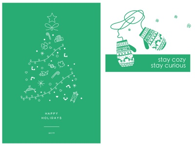 SurveyMonkey Holiday cards illustration surveymonkey
