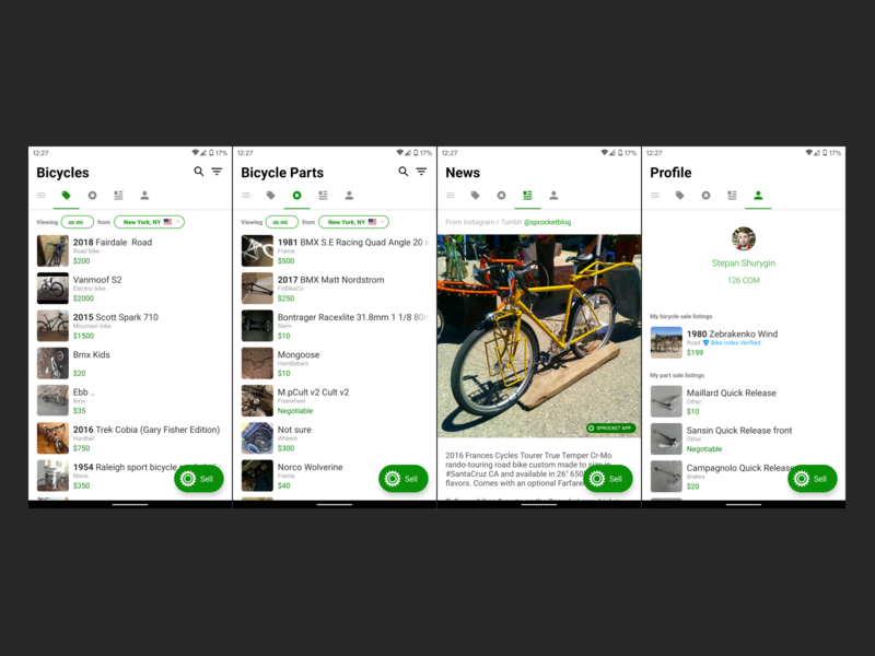 7 Projects Sprocket Android App Dribbble