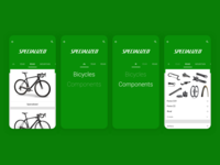 Sprocket Android Brand Bikes/Parts Switch UX 2014 Design monochrome logotype header brand app green bike material branding logo bicycle sprocket android ux