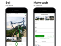 Sprocket iOS ASO Screenshots 2020 Rearranged screenshots app store marketplace sell iphone screenshot ui ux sprocket app mobile bike bicycle ios