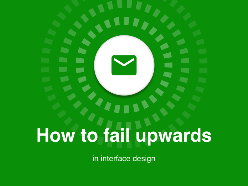 Medium: How to fail upwards in interface design quality iteration strategy fail failure thinking design thinking design mobile bike bicycle sprocket ios android