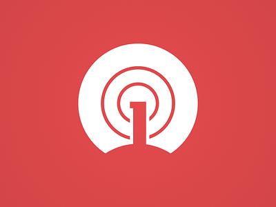OneSignal Platform Icon 2020 developer notifications notification tower signal flat minimal web icon vector branding illustration logo app