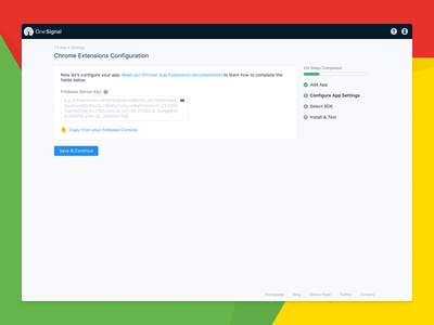 OneSignal Chrome Extensions/Apps SDK Setup Redesign sign in firebase sdk simple redesign ux notifications notif app extension web chrome google onesignal