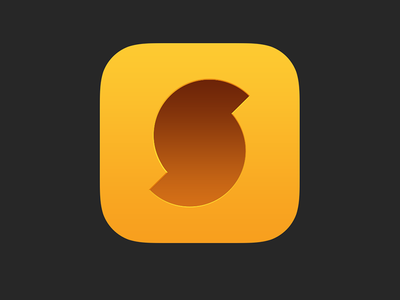 SoundHound iOS App Icon soundhound app ios ios7 ios8 music identify find search audio icon app icon
