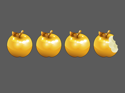 Gold Apple Rating - A Bit of Geek Blog vector illustrator video blog geek ratings rating gold golden apples apple