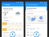 Hound Android Weather Results UIX