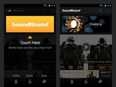SoundHound Android App Tutorial Optimization easy simple optimize overlay tutorial find search identify id music android soundhound