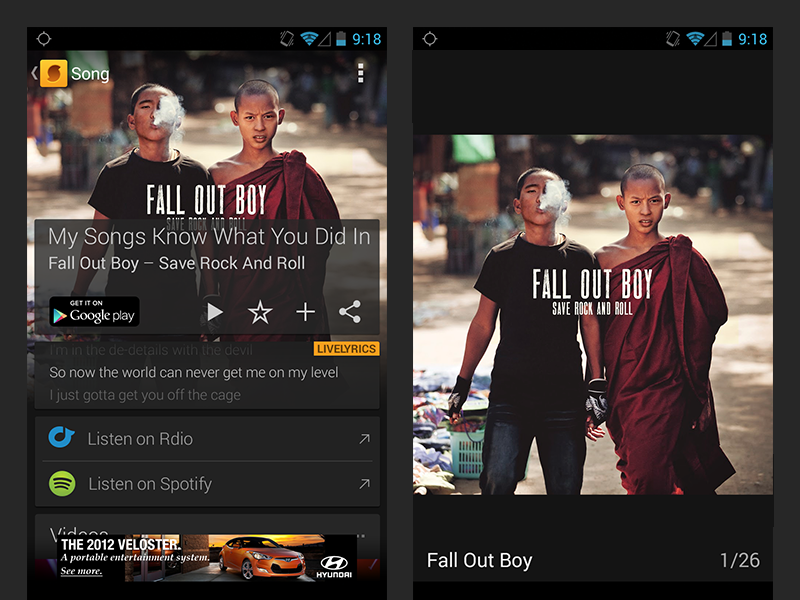 SoundHound Android Gallery by Seven | Dribbble | Dribbble