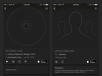 SoundHound No-Image Illustrations silhouette outline musician artist album song identify music ui ios android soundhound