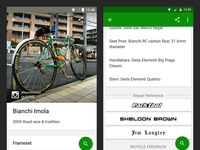 Sprocket Android 1.3.3 Bike Page