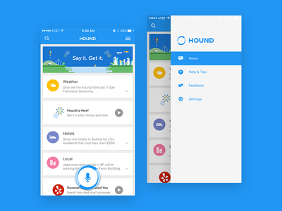 Hound iOS quality ux ui ios future ai sound voice assistant search soundhound hound
