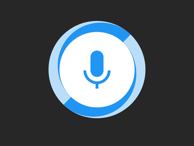 Hound Android App Icon fab microphone simple material ui scifi assistant search voice soundhound launcher hound