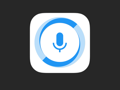 Hound iOS App Icon audio fab microphone simple ui scifi assistant search voice soundhound launcher hound