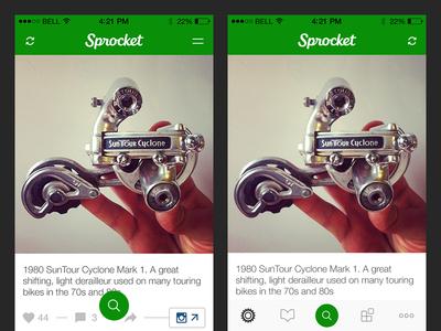 Sprocket iOS 1.4 Navigation