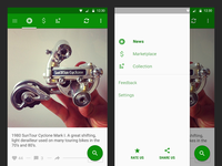 Sprocket Android 1.4.1 Tab & Overlay Navigation