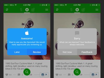 Sprocket iOS 1.3 Consistent Dialogs