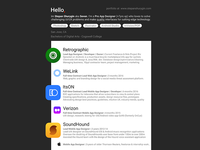 Material Resume PSD Template