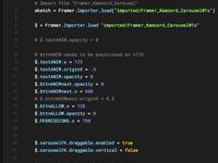 Framer kamcord carousel code