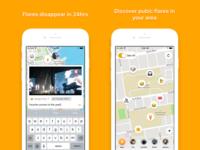 Flare iOS 1.1 App Store Screenshots