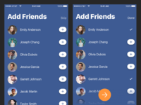Flare iOS Facebook Auth Add Friends