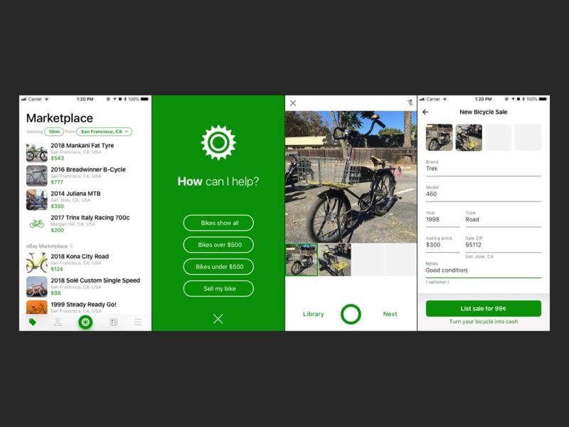 Sprocket iOS 1.5 Bike Sale Flow sale assistant camera sell market bike iphone bicycle ux ui sprocket ios