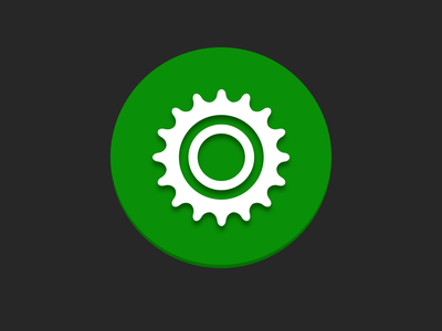 Sprocket Android Icon 2019 material icon branding logo green illustration bike bicycle ui app sprocket android