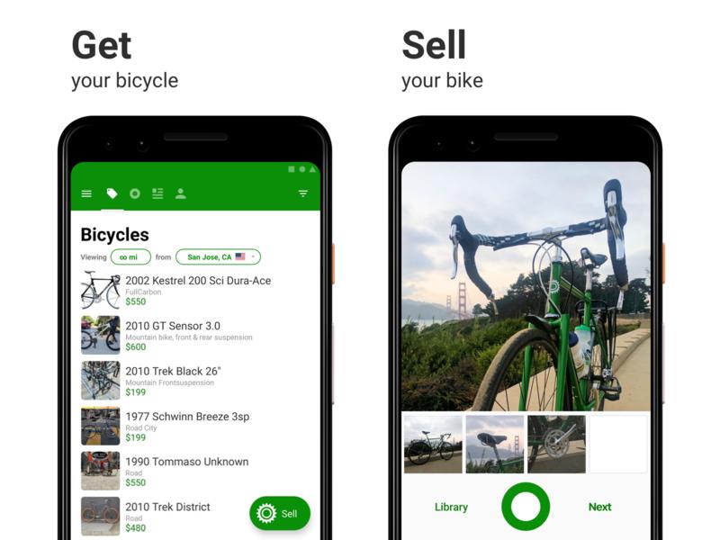Sprocket Android Screenshot Thumbnail Txt Improvement Experiment test experiment copy bike screenshot play store text design android ui app sprocket