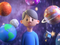 Star Boy astronaut kids illustration cartoon space astronomy planets earthday earth day render design c4d 3d cinema 4d alex sheyn